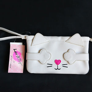 Betsey Johnson Peekaboo Cat Kitten Clutch Wallet